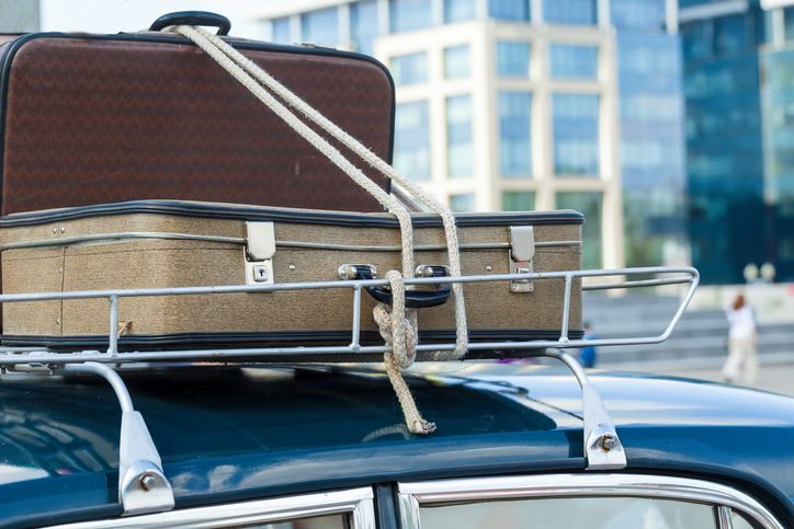 luggage on roof rack